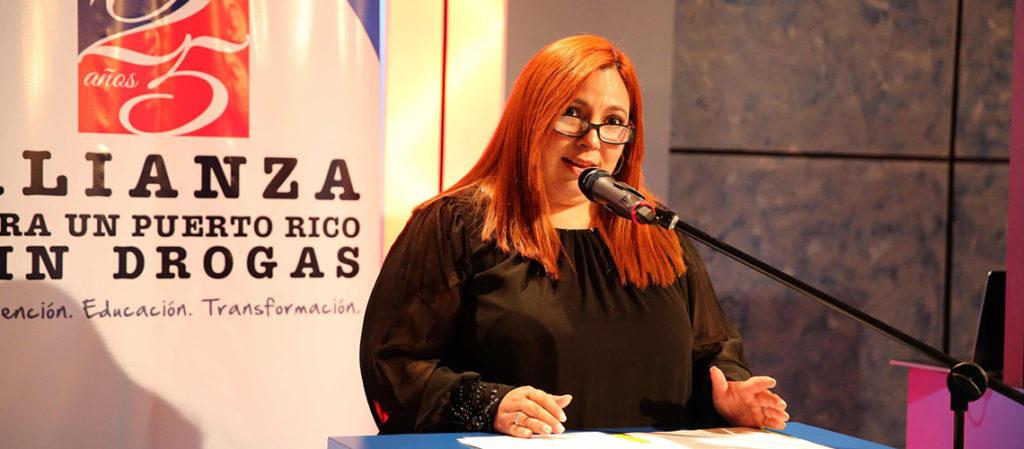 La Lcda. Katiana Pérez, directora ejecutiva de la Alianza